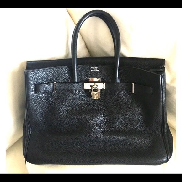 3350e1b68c7 Hermes Bags   Herms Black Birkin Togo With Silver Hardware   Poshmark